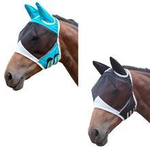 Товары для домашних животных Лошадь летучая маска на пол-лица щит летняя Эргономика анти-УФ противомоскитная маска лошади Защитная крышка сетка муха насекомое