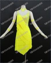Vestido de baile latino/vestido de baile Tango Vals, niñas/mujeres danza moderna/traje de actuación/desgaste LD 0028