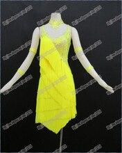 Łacińskiej sukienka do tańca/suknia do tańca towarzyskiego walca i tango, dziewczyny/kobiety taniec nowoczesny/wykonywać kostium/zużycie LD 0028