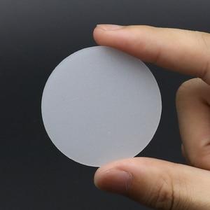 Image 2 - 2 חתיכות 35mm 50mm 60mm 65mm 70mm 75mm 92mm 110mm פנס מפזר עדשת LED פנס לפיד DIY מסנן עדשת PC לבן צבע
