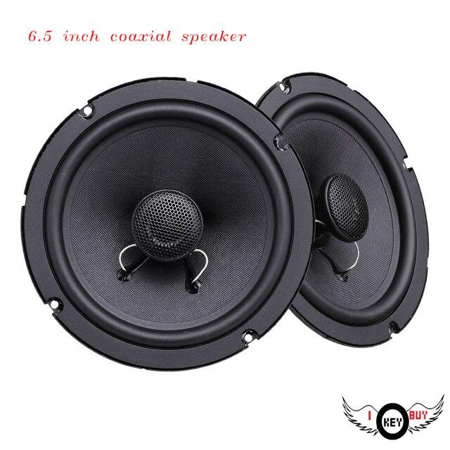 1PC 6.5 Inch 12V Car Coaxial Speaker Bass Treble Glass Fiber Dome Full  Range Of High