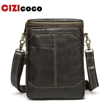Men Shoulder Bag Male Genuine Leather Zipper Cowhide Flap Casual Crossbody Bags For Men Messenger Bags Leather Bag 8003