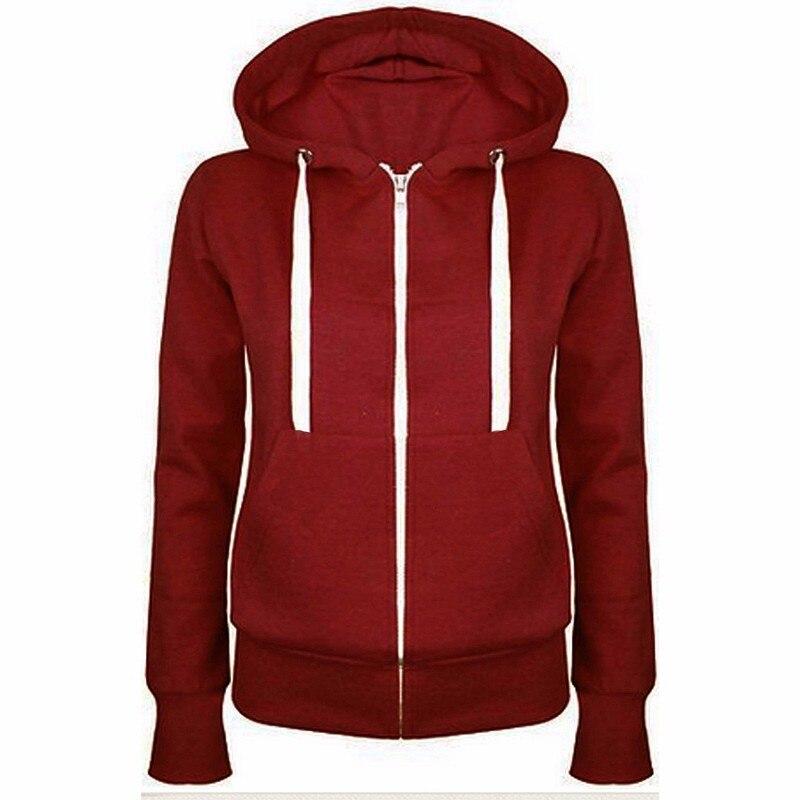 bbca9144 US $11.03 |Unisex Plain Zip Up Hooded Zipper Sweatshirt Hoodies Sweatshirt  2019 New Ladies Women Men Coat Top-in Hoodies & Sweatshirts from Women's ...
