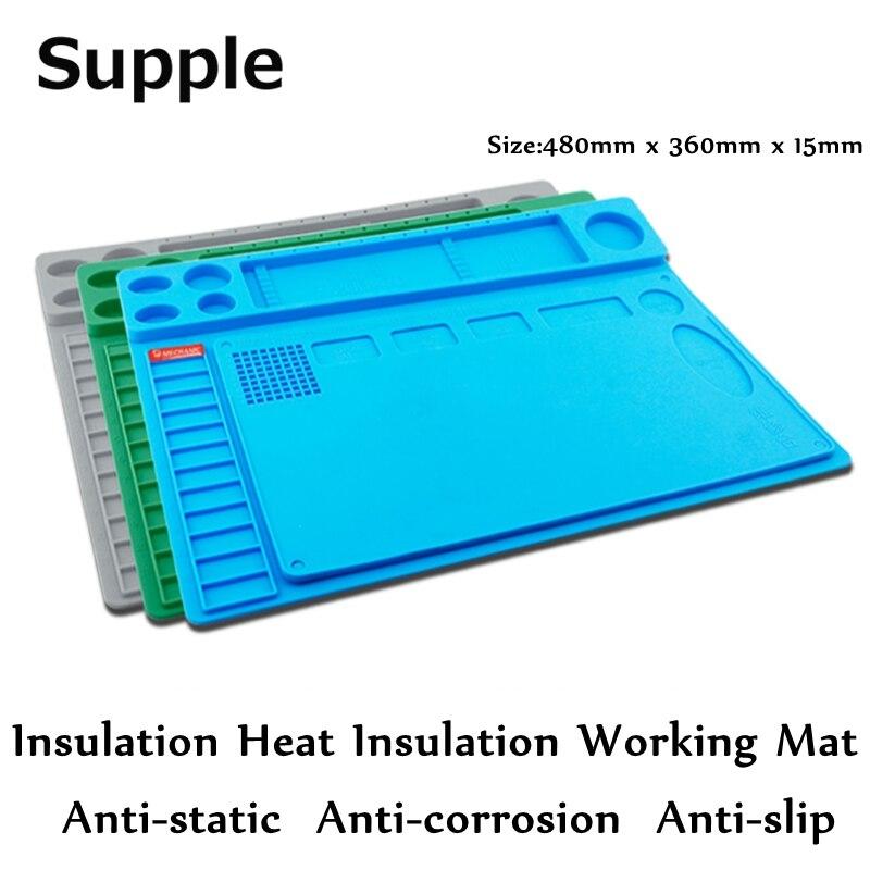 Мягкой теплоизоляция рабочих Коврики высокая термостойкость Магнитная площадку теплоизоляция для телефона инструмент для ремонта