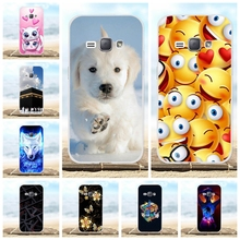 цены 4.5'' TPU Case For Samsung J1 2016 Case Cover Silicone Funda 3D Pattern Bumper For Samsung Galaxy J1 2016 J120 J120F Phone Cases
