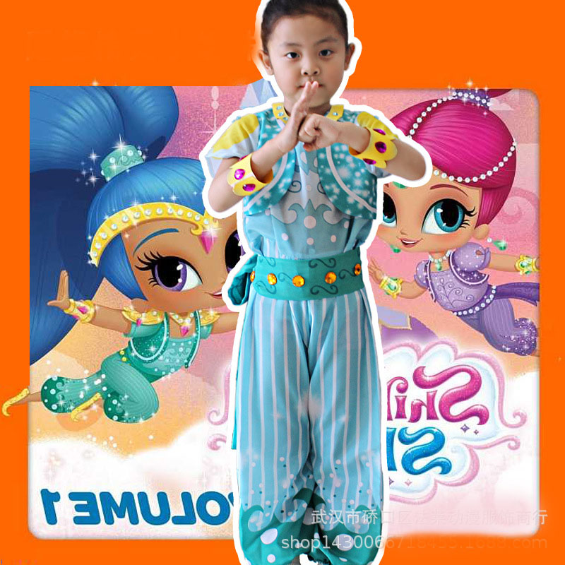 2018 New Childrens Lovely And Beautiful Clothes Shimmer And Shine Children Study Station ...