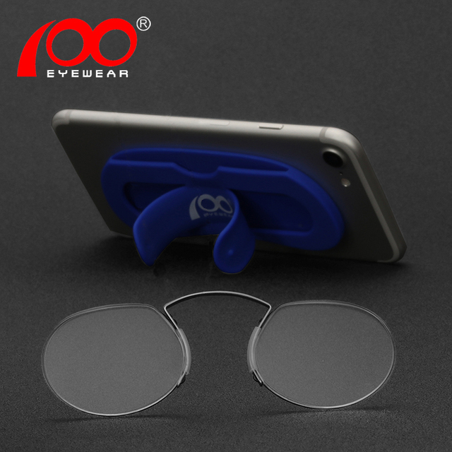2018 vision reading glasses stainless steel anti blue light SOS Emergency Nose Clip eyeglasses presbyopia #RD8107C8