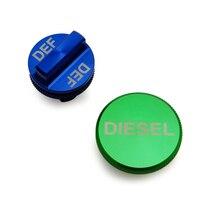 For Dodge Ram 2013 2017 Diesel Magnetic Billet Aluminum Fuel Cap And DEF Cap Combo