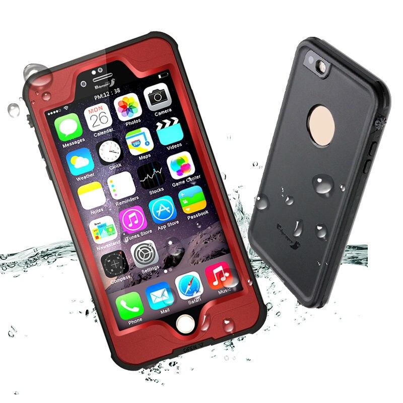 bilder für Redpepper Robust 4-angle IP68 Wasserdicht Stoßfest Unterwassergehäuse für iPhone 6 6 s Plus Telefon Abdeckung Coque Capinha