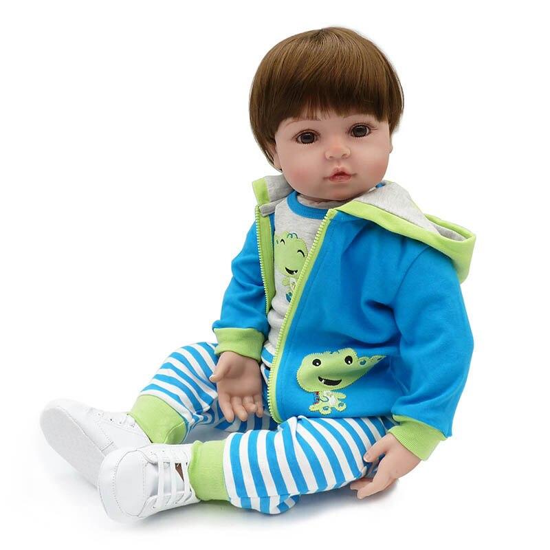 48 センチメートル NPK シリコーンリボーンベビードールリアルな新生児ソフトシリコン新生児人形手作り幼児おもちゃギフトのための子供  グループ上の おもちゃ & ホビー からの 人形 の中 3