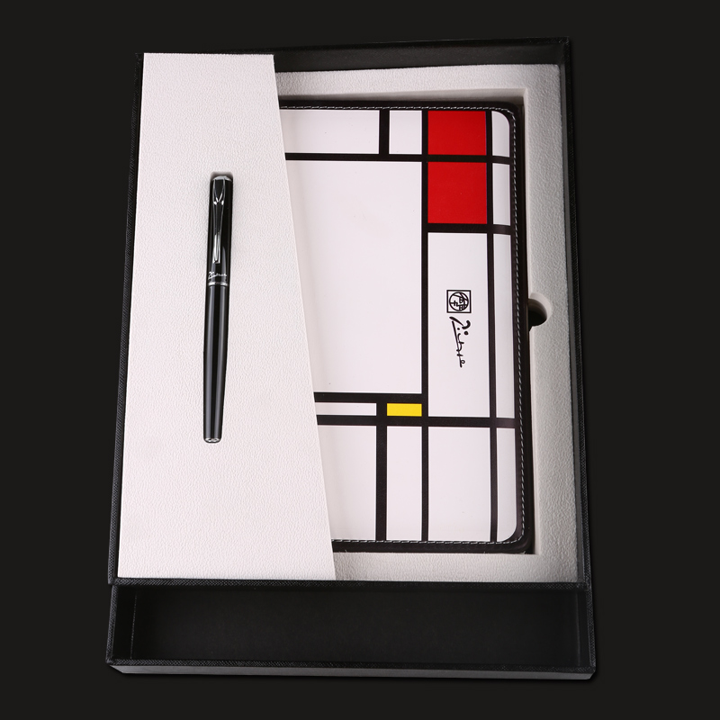 Pimio PS-5106B Luxruy Black 0.5mm Iridium Fountain Pen + Picasso Notebook Noble Gift Business Pens Set Free Shipping pimio pen business gift set for men and women lovers pen gift box calligraphy pen