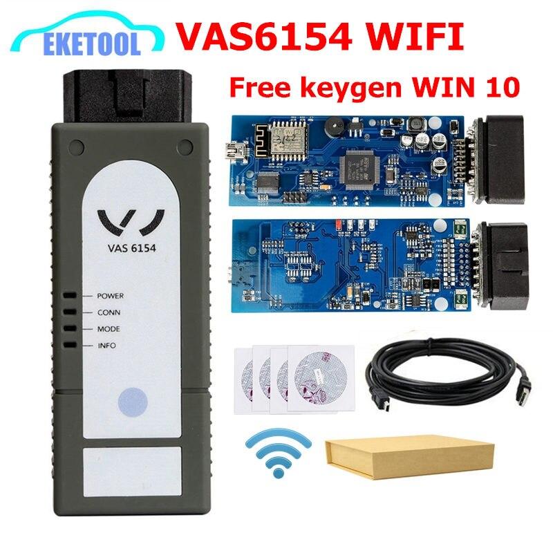 2019 новые VAS6154 Wi Fi Беспроводной ODIS 4,33 считыватель кода VAG Диагностический инструмент VAS 6145 заменить VAS 5054A VAS5055 работает WIN 10