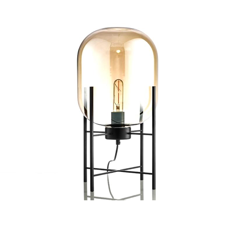 New arrival Creative simple floor lamp glass lampshade desk light black body new design home shop restaurant decoration lighting