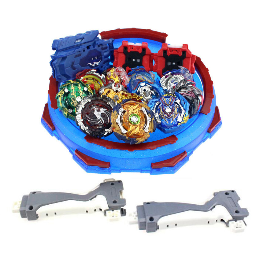 Spin Tops Arena Stadium Toupie Spinning Top Metal 4D Fusion Toys For Children With Launcher Handle E