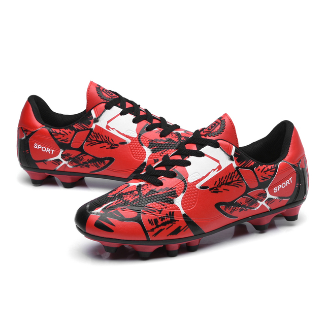 1c8390a29 2018 New Indoor Futsal Soccer Boots Sneakers Men Cheap Soccer Cleats  Superfly Original Sock Football Shoes with Ankle Boots Red