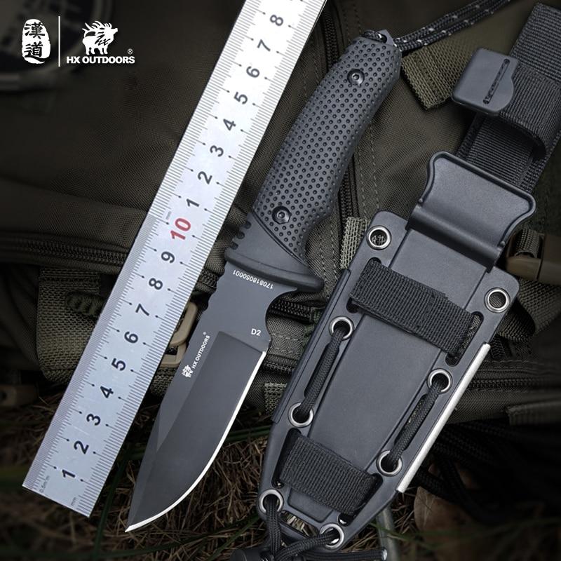 D2 Couteau de Chasse Couteaux de Poche couteau Tactique Couteaux de Survie de Camping En Plein Air de pêche harpon EDC Outil