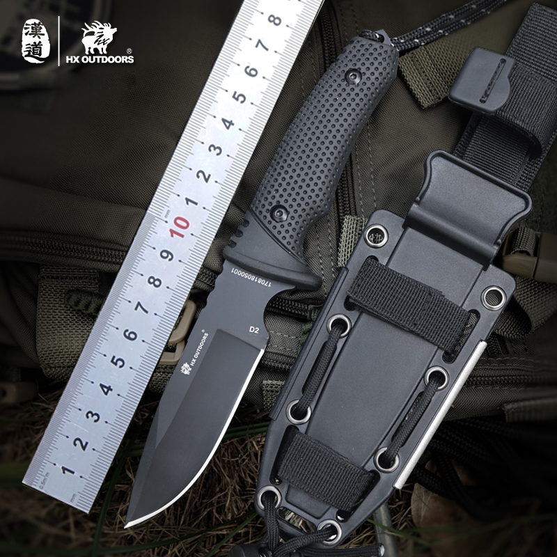 D2 Knife Hunting Knives Pocket knife Tactical Knifes Survival Camping Outdoor fishing harpoon EDC Tool camping equipment pocket edc gear three stages knife sharpener pocket outdoor survival tool fish hook sharpening stone