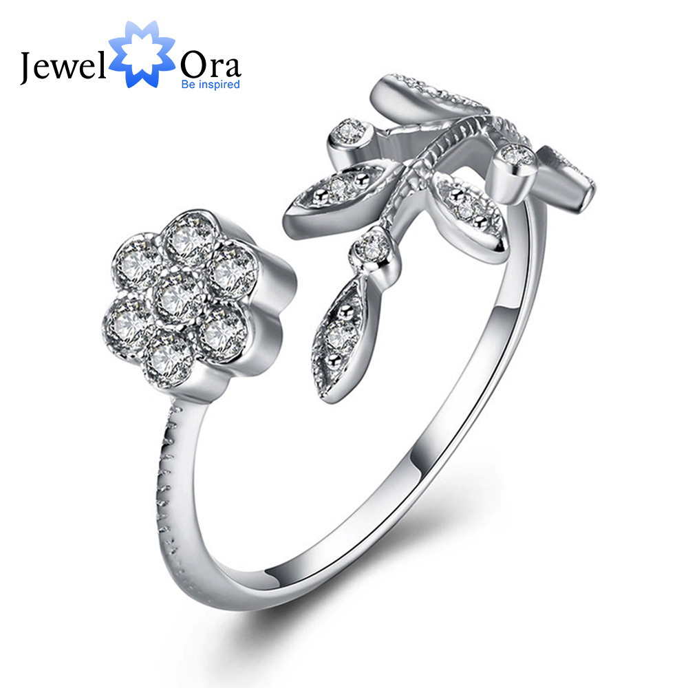 Trendy Leaves Design Solid 925 Sterling Silver Jewelry Adjuss