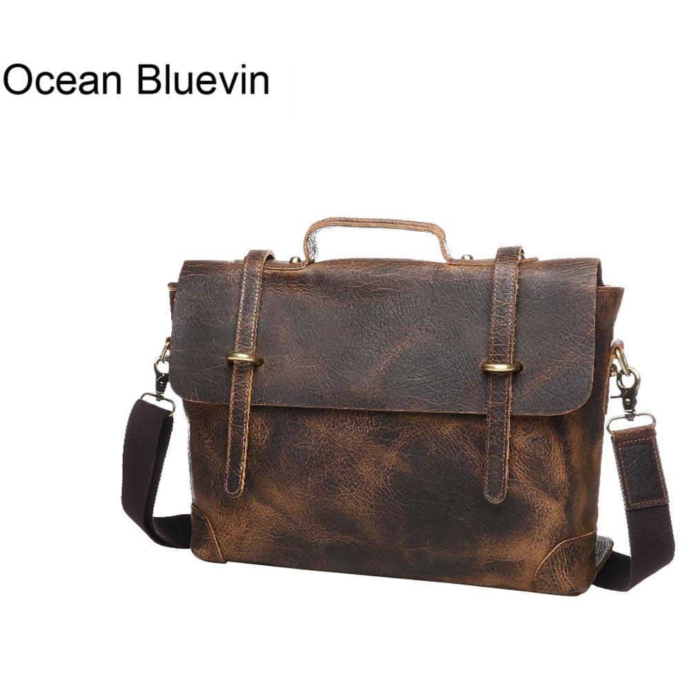 OCEAN BLUEVIN New Handbags High Quality Genuine Leather Mens Briefcase Luxury Laptop Bag Tote Bag Shoulder Crossbody Bag BolsasOCEAN BLUEVIN New Handbags High Quality Genuine Leather Mens Briefcase Luxury Laptop Bag Tote Bag Shoulder Crossbody Bag Bolsas