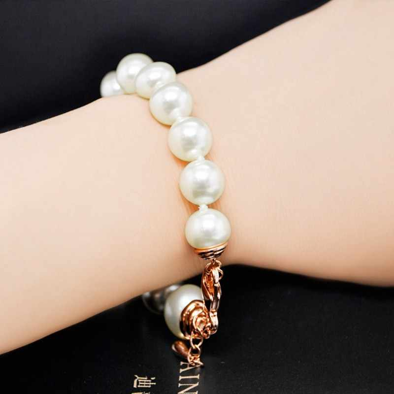 MIGGA Bracelet en perles d'imitation de haute qualité pour femmes