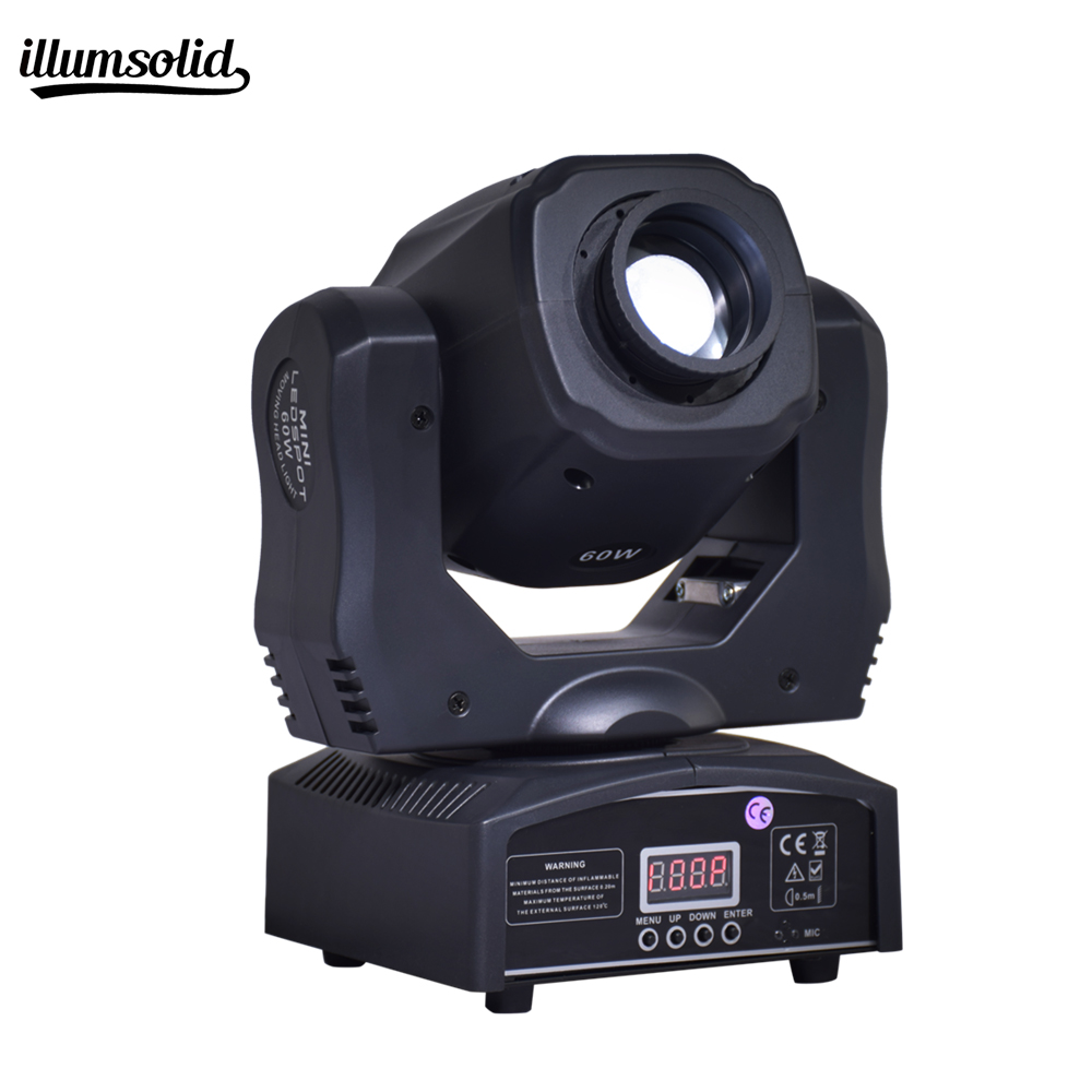 Spot 60W LED With Gobos Color Plate High Brightness Mini Moving Head Light For Stage Lighting