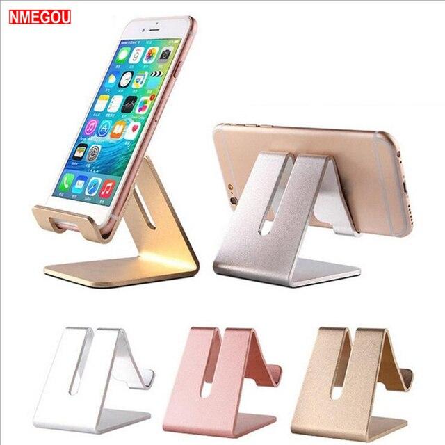 Soportes de teléfono móvil de aleación de aluminio para estación de base de cargador de escritorio para IPhone X Samsung Huawei soporte de soporte para Smartphone