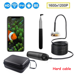 1200P Telescoping Wifi Endoscope Inspection Camera IP68 Waterproof 2.0MP Semi-Rigid WiFi Borescope With 8 LED For iOS Android