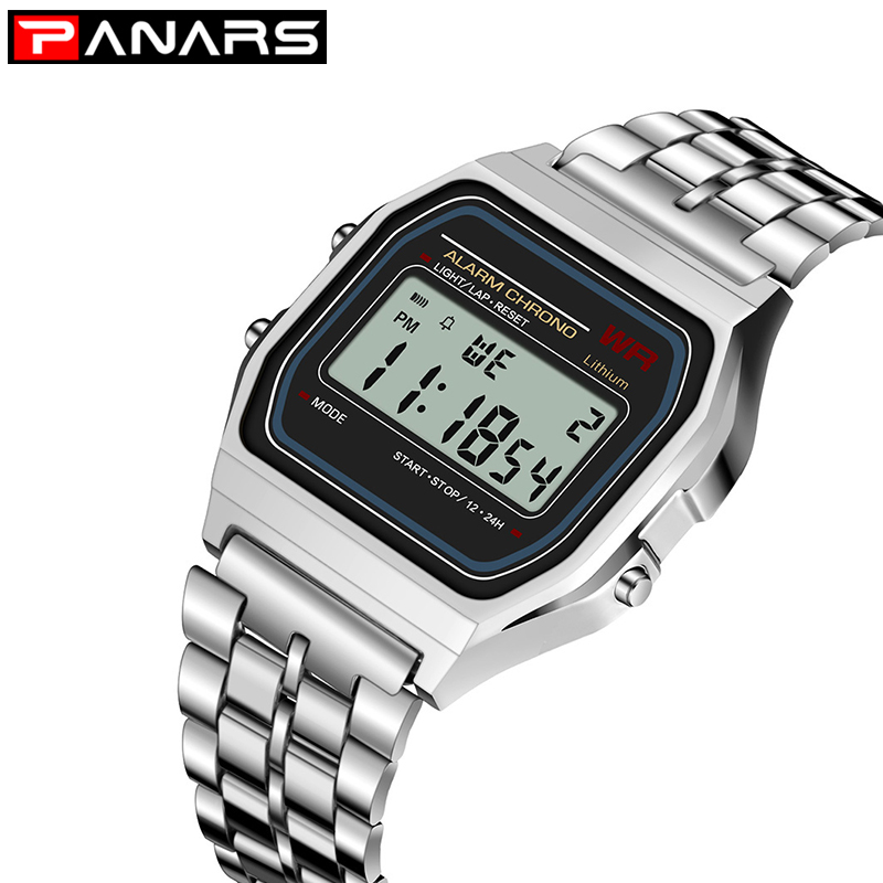 PANARS Retro SPORT Watch Luxury Brand G Design LED Fashion Shock Multifunction Life Waterproof Watch For Men Women Cheap