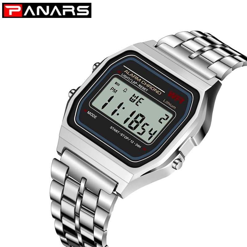 PANARS Retro SPORT Watch Luxury Brand G Design LED Fashion Shock Multifunction Life Waterproof Watch For Men Women Cheap