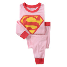 Children pajamas set kids baby girl Cartoon pajamas for Spiderman Sleepwear nightwear 2 piece set costume