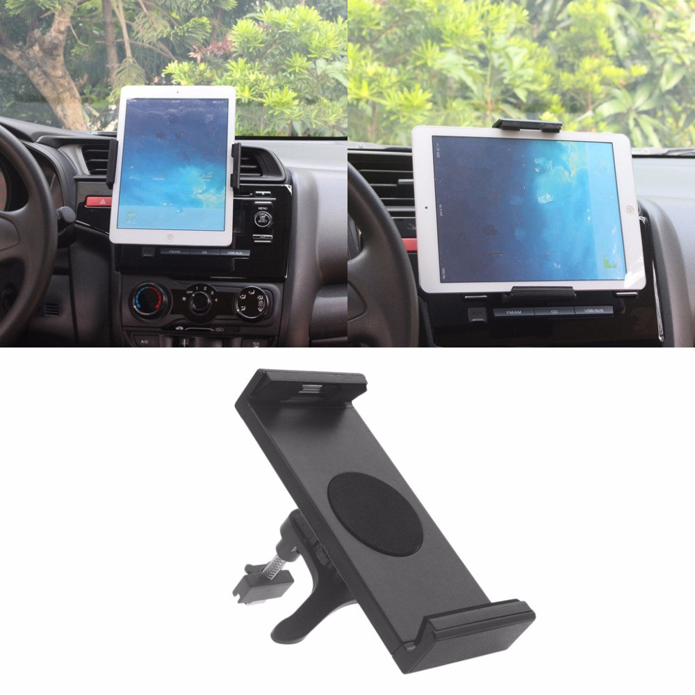 Universal 360 Degree Rotating Car Mount Holder Stand For iPad 2 3 4 Air Galaxy Tab 2 S3 for iPhone 6P 7 Plus