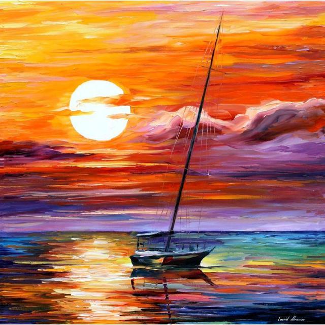 Originale texture spatola paesaggio dipinto olio su tela arte