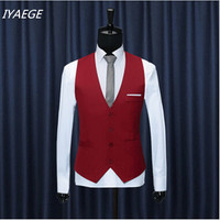 2017 New Style Fashion Leisure Suit Vest Men's Wedding Banquet Gentleman Suit vest V-neck Sleeveless Jacket Asian Size M-3XL
