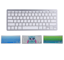 цена на Bluetooth Wireless Keyboard Keypad Ultra-Slim universal For PC Apple iPad Laptop Android IOS with protect film different color