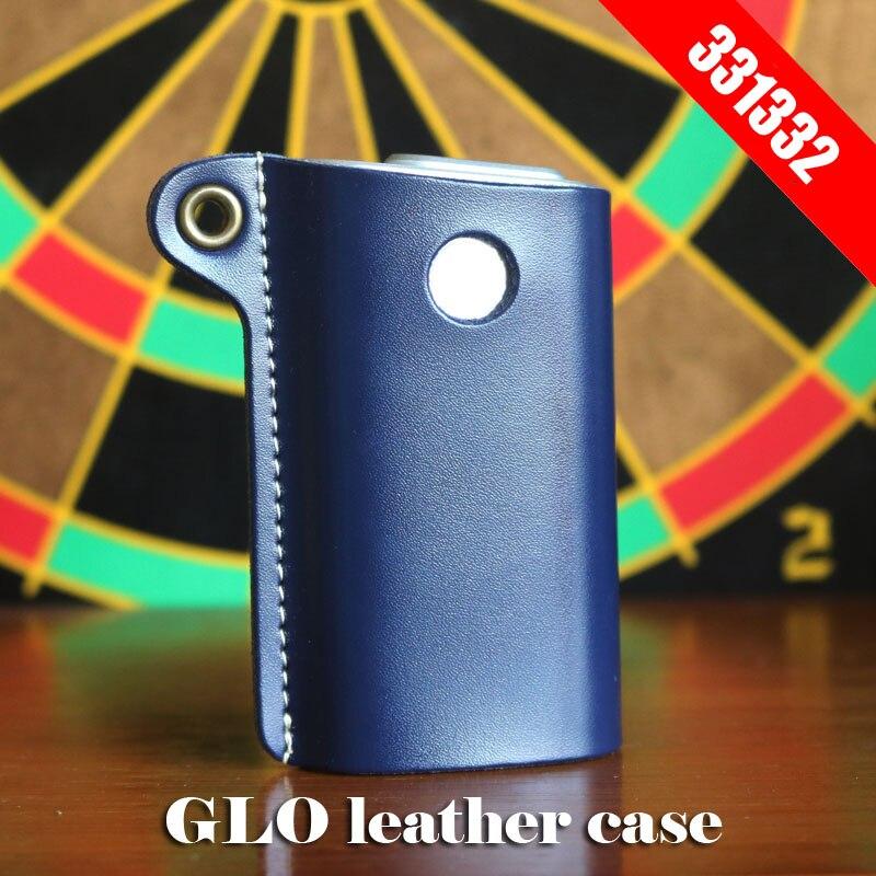 Оригинальный 331332 футляр для хранения, кожаный чехол для электронной сигареты GLO, в наличии синий, красный, черный