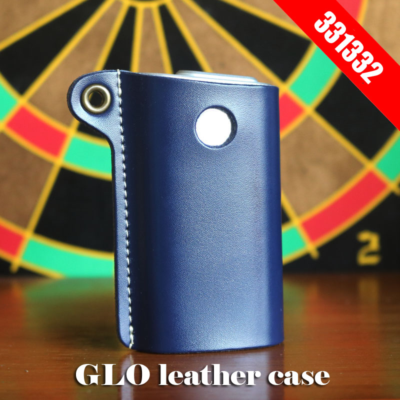 Original 331332 Box Holder Storage Pouch Bag GLO Leather Case For GLO E Cigarette Cover In Stock Blue Red Black Available