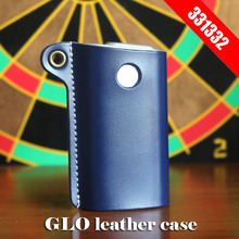 Original 331332 Box Holder Storage Pouch Bag GLO Leather Case for GLO e Cigarette cover in stock blue red black available e cigarette vape support 18650 battery not included electronic cigarette box mod e cigarettes fit atlantis tank vs sucks cf mo