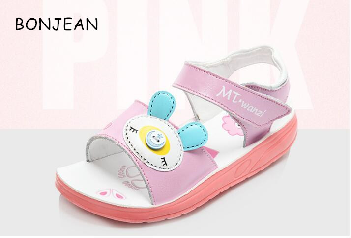 free shipping Girl sandals 2017 summer new Korean children girl leather students princess shoes mmc28