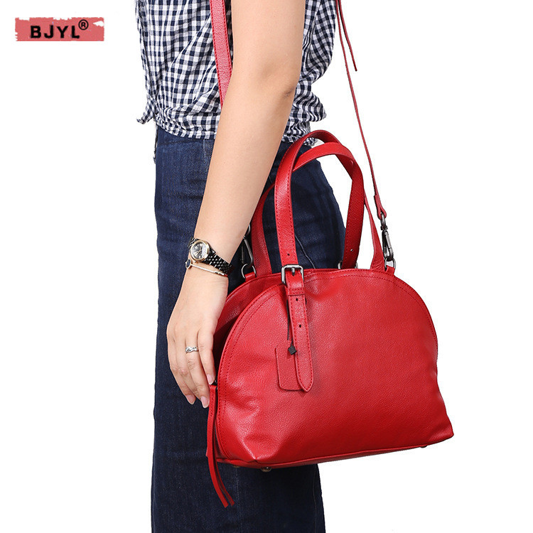 BJYL Genuine Leather Women handbags European and American fashion women's first layer of leather female shoulder Messenger Bags цена 2017