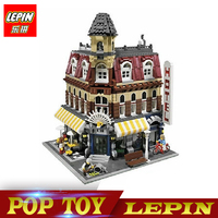 New Lepin 15002 2133Pcs Cafe Corner Model Building Kits Blocks Kid Toy Gift Brinquedos Compatible With