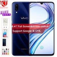 Оригинальный VIVO X23 мобильный телефон 6,41 8G RAM 128G ROM Восьмиядерный Snapdragon водослива дисплей двойной камера экран разблокировать сотовом телефо