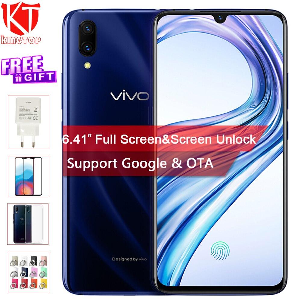 D'origine VIVO X23 Mobile Téléphone 6.41 8g RAM 128g ROM Snapdragon Octa core waterdrop affichage Double Caméra écran Déverrouiller Le téléphone Cellulaire