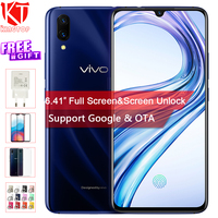 Original VIVO X23 Mobile Phone 6.41 8G RAM 128G ROM Snapdragon Octa core waterdrop display Dual Camera Screen Unlock Cell phone