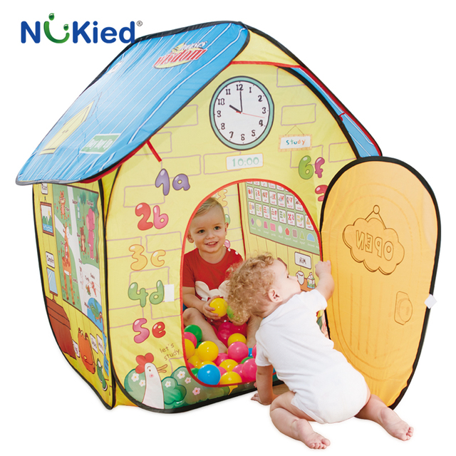 NUKied Kids Learning Playhouse Portable Floding Early Educational Tent Pop Up Outdoor Garden Cubby Baby Learn  sc 1 st  AliExpress.com & NUKied Kids Learning Playhouse Portable Floding Early Educational ...