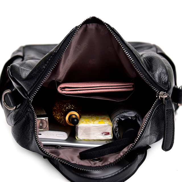 2019 Fashion Women Backpack High Quality Youth Leather Backpacks for Teenage Girls Female School Shoulder Bag Bagpack mochila 4