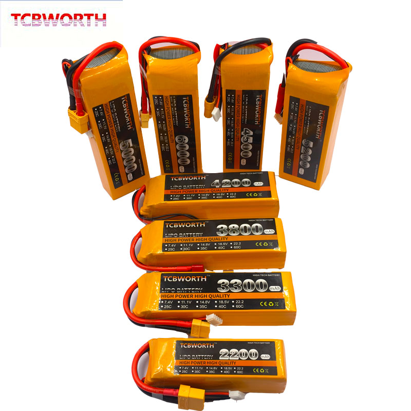 18.5V RC Toys <font><b>LiPo</b></font> Battery <font><b>5S</b></font> 1300mAh 1800mAh 3500mAh 4000mAh 4500mAh <font><b>6000mAh</b></font> 30C 40C For RC Airplane Drone Helicopter Car Boat image