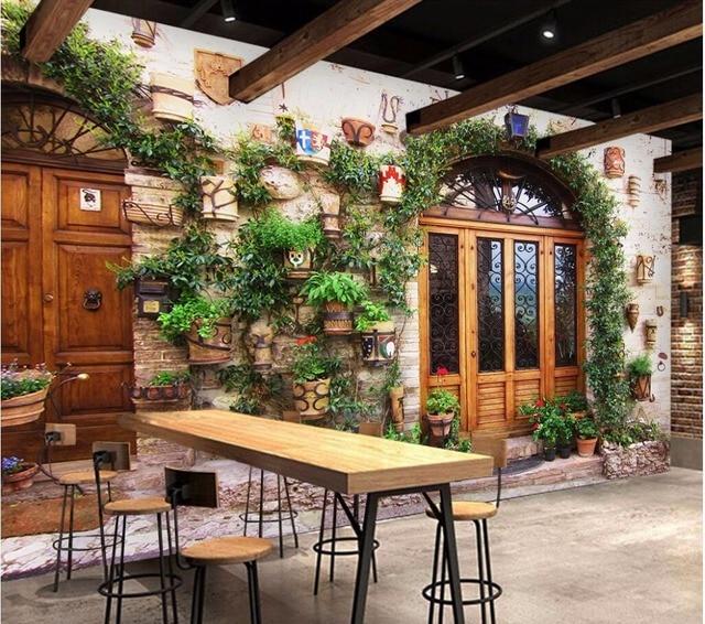Benutzerdefinierte Mural 3d Raum Tapete Mediterranen Street View Home Dekoration  Malerei Bild 3d Wandbilder Wallpaper Für