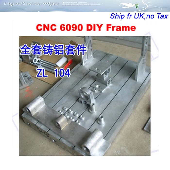 No tax in EU Customized CNC 6090 Frame bed kit, with bed, ball screw,  bearing, stepper motor and coupler no tax ship from factory diy cnc frame for 3020z with ball screw optical axis and bearings also have 3040 6040 6090 frame kit