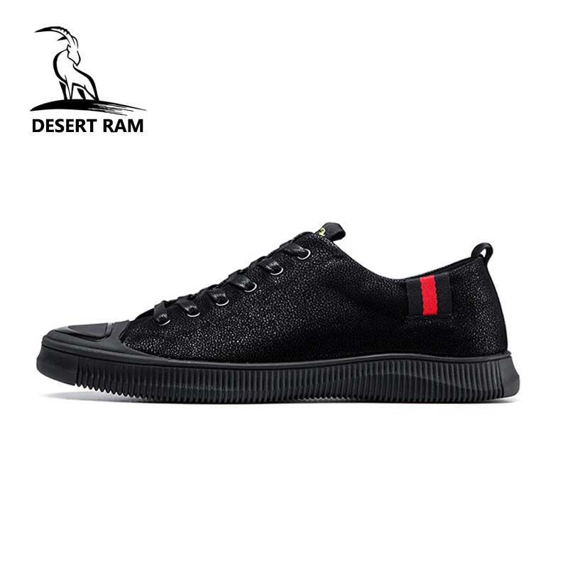 High Tiger Shoe Rubber Top Mens DESERT Sneakers Leather Men 2018 RAM Hot  Trending Lace Shoes ... 8513a8255acc