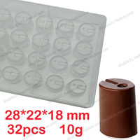 32cups Mold Chocolate Clear Polycarbonate Plastic Mold 1pcs 3d Plastic Mold DIY Handmade Chocolate PC Mold